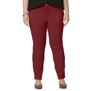 Simply Emma Maroon Skinny Pants